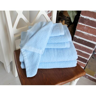 Diamond Jacquard 6 Piece Towel Set Color: Aquamarine