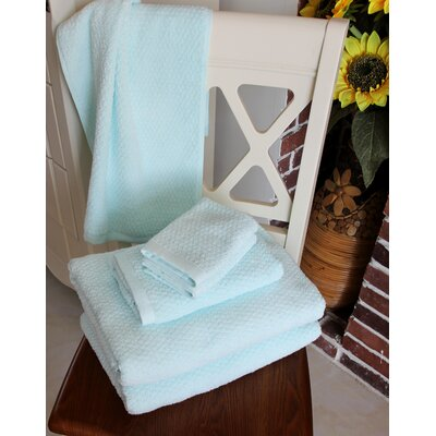 Diamond Jacquard 6 Piece Towel Set Color: Hushed Green