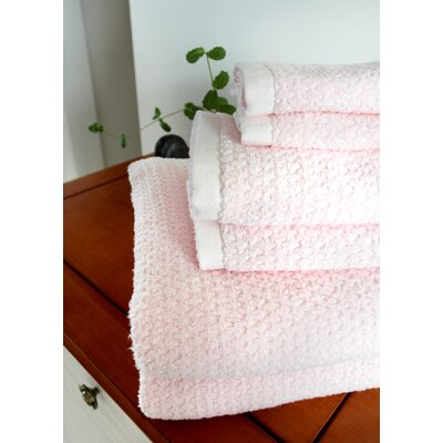 Diamond Jacquard 6 Piece Towel Set Color: Rose Plush