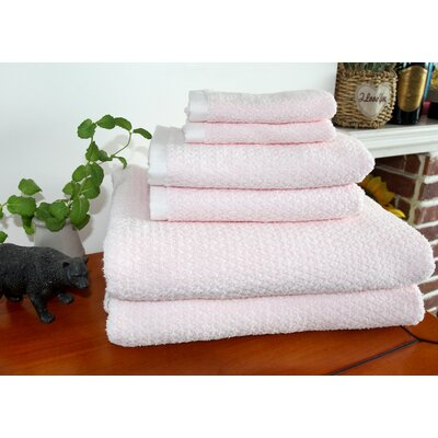 Diamond Jacquard 6 Piece Bath Sheet Set Color: Rose Plush