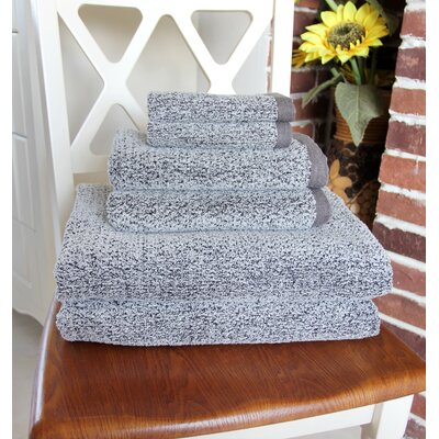 Diamond Jacquard 6 Piece Towel Set Color: Dusk
