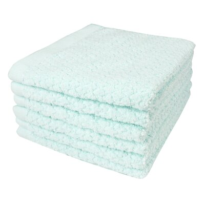 Diamond Jacquard 6 Piece Washcloth Set Color: Hushed Green