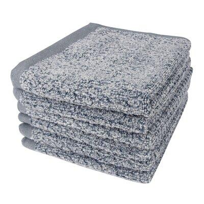 Diamond Jacquard 6 Piece Washcloth Set Color: Dusk
