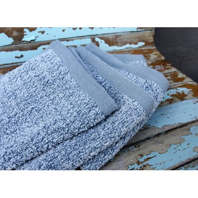 Diamond Jacquard 6 Piece Washcloth Set Color: Aquamarine