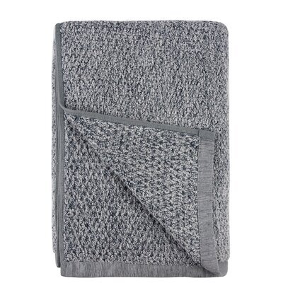 Diamond Jacquard Bath Sheet Color: Dusk
