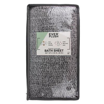 Diamond Jacquard 2 Piece Bath Sheet Set Color: Gray