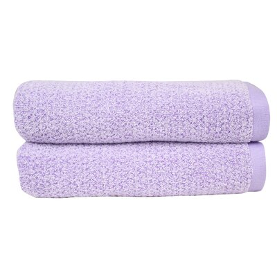 Diamond Jacquard Bath Towel Set Color: Lavender