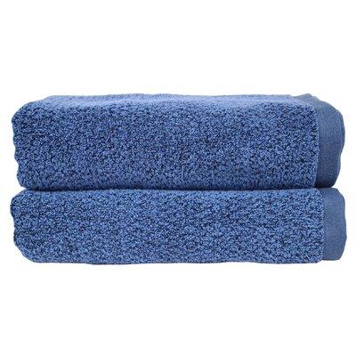 Diamond Jacquard Bath Towel Set Color: Navy Blue