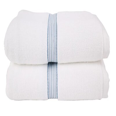 Dobby 2 Piece Bath Towel Set Color: Blue