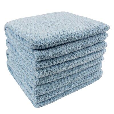 Diamond Jacquard Hand Towel Color: Aquamarine