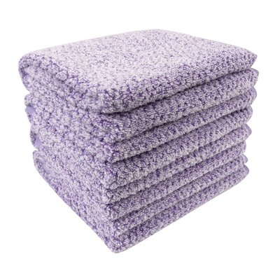 Diamond Jacquard Hand Towel Color: Lavender