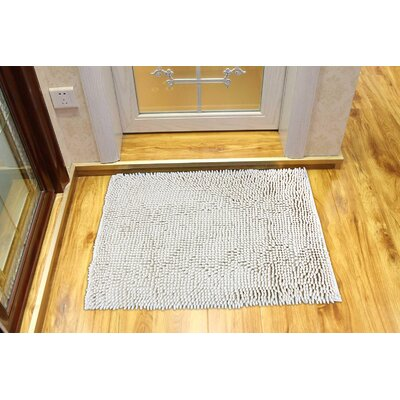 Chenille White Area Rug Rug Size: 311 x 3