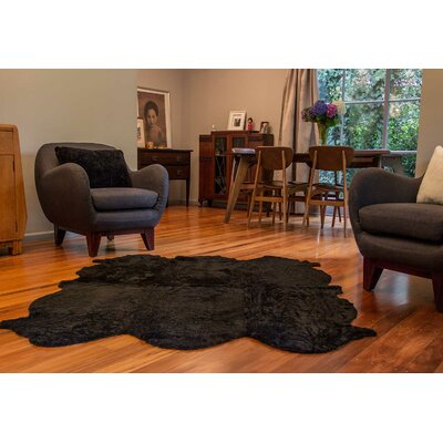 Curly Zealamb Black Rug Rug Size: Novelty 6 x 8