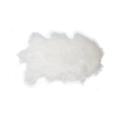 Wellington Mongolian Sheepskin White Area Rug