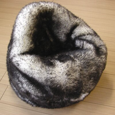 Luxury Bean Bag Chair Upholstery: Black