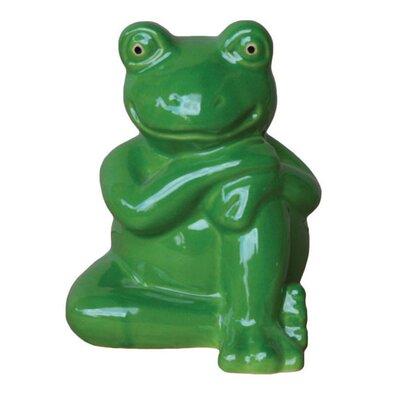 Glazed Frog Figurine