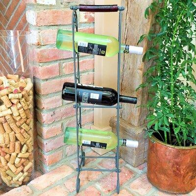French 6 Bottle Floor Wine Bottle Rack