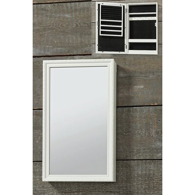Stockbridge Wall Mounted Jewelry Armoire with Mirror