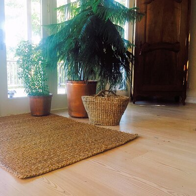 Made by Nature Seagrass Hand-Woven Brown Area Rug