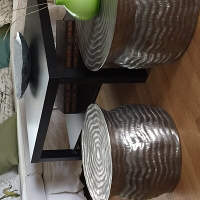 Global Rain 2 Piece End Table Set