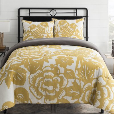 Aviary 3 Piece Comforter Set Size: Full/Queen