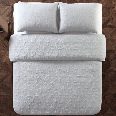 Aviary 2 Piece Twin Quilt Set Color: Light Gray