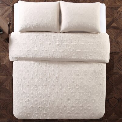 Aviary 2 Piece Twin Quilt Set Color: Ivory