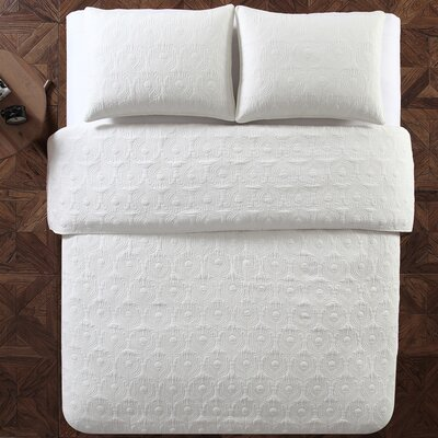 Aviary 2 Piece Twin Quilt Set Color: White