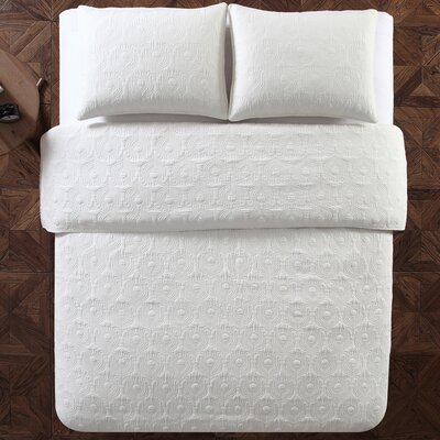 Aviary 3 Piece Quilt Set Color: White, Size: Full/Queen