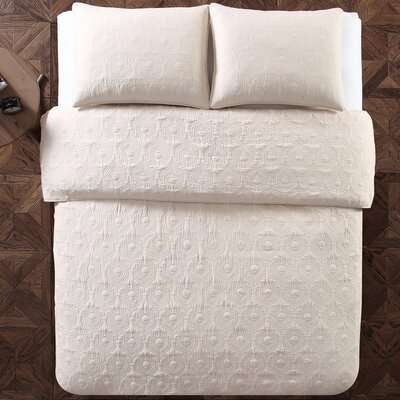 Aviary 3 Piece Quilt Set Color: Ivory, Size: Full/Queen