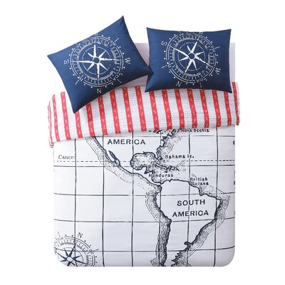 Nautical Duvet Set Size: Full/Queen