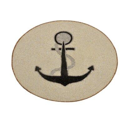 Lillianna Beaded Round Anchor Design Handmade Placemat LNTS5019 45299724