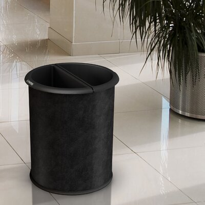 Commercial Zone Green Zone Precision Series Vinyl Wrap InRoom 3.2 Gallon Recycling Waste Basket - Color: Black