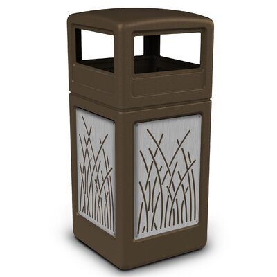Precision Series� 42 Gallon Trash Can Color: Brown 732916299