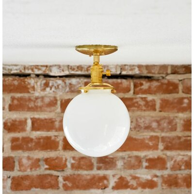 Industrial 1-Light Semi Flush Mount