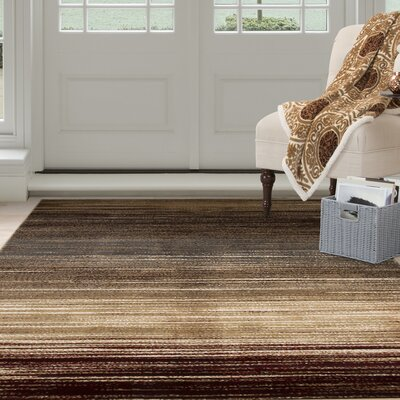 Abstract Stripes Cream Area Rug Rug Size: 33 x 5