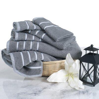 6 Piece Towel Set Color: Silver