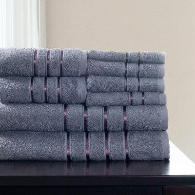 8 Piece Towel Set Color: Silver