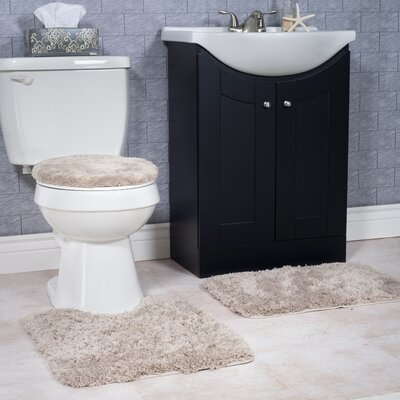 Non-Slip 3 Piece Bath Rug Set Color: Taupe