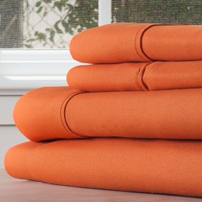 Series 1200 Microfiber Sheet Set Size: Queen, Color: Rust