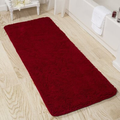 Shag Bath Rug Color: Burgundy