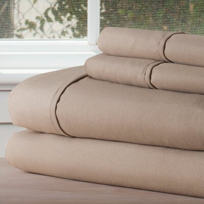 Series 1200 Microfiber Sheet Set Size: Twin XL, Color: Taupe
