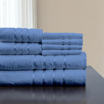 8 Piece Towel Set Color: Blue