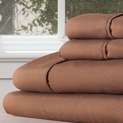 Series 1200 Microfiber Sheet Set Size: Twin XL, Color: Chocolate