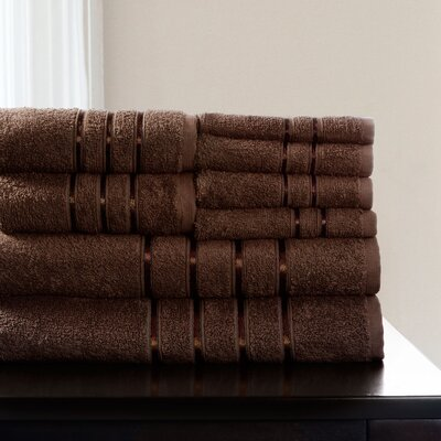 8 Piece Towel Set Color: Chocolate
