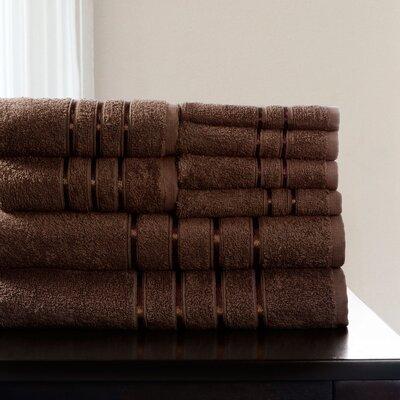 8 Piece Towel Set Color: Chocolate