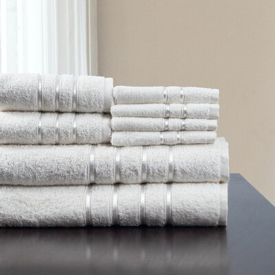 8 Piece Towel Set Color: White