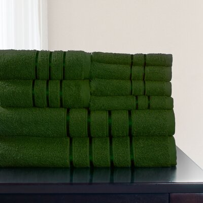 8 Piece Towel Set Color: Green