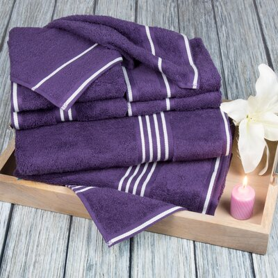 8 Piece Towel Set Color: Eggplant