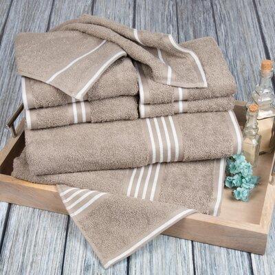 8 Piece Towel Set Color: Taupe